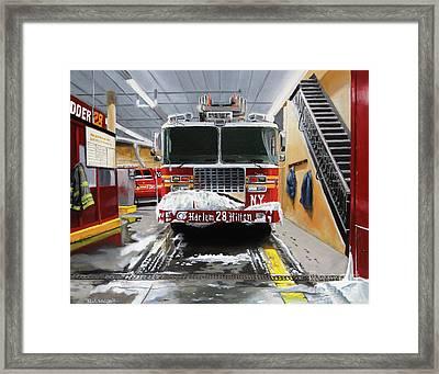 Harlem Hilton Ladder 28 Framed Print