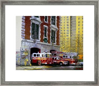 Harlem Hilton Framed Print