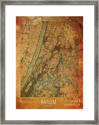 Harlem, New York, 1900 Map Framed Print