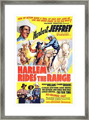 Harlem Rides The Range 1939 Framed Print by Mountain Dreams