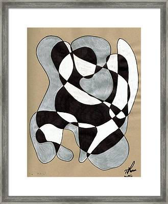 Harlequin Abtracted Framed Print