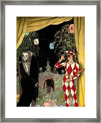 Harlequin And Death Framed Print