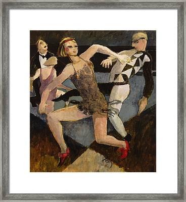 Harlequin Floor Show Framed Print