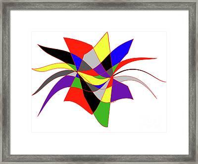 Harlequin Flower Framed Print