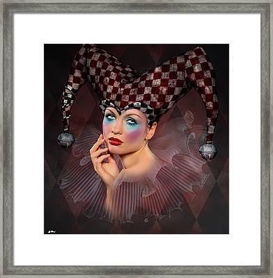 Harlequin Portrait 002 Framed Print