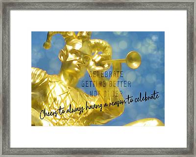 Harlequin Quote Framed Print by JAMART Photography