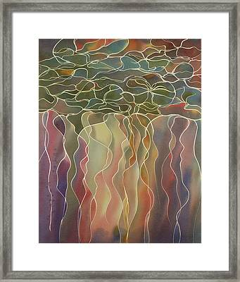 Harlequin Water Lillies Framed Print