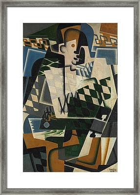 Harlequin With A Guitar Framed Print
