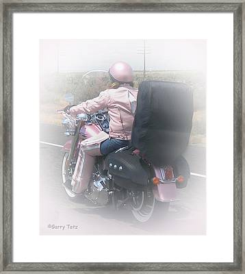 Harley And Me Framed Print