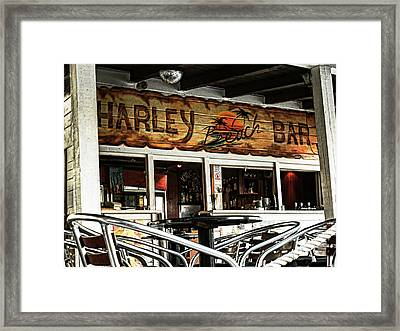 Harley Beach Bar Framed Print