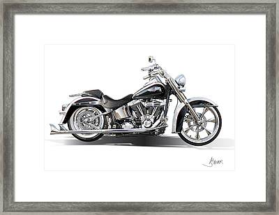 Harley Bike Framed Print by Alain Jamar