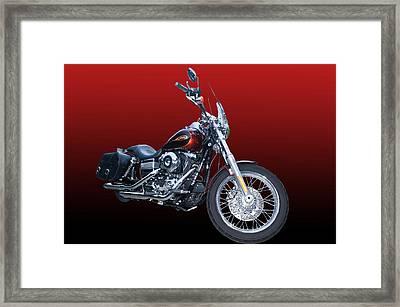 Harley Bike Framed Print by Jim  Hatch