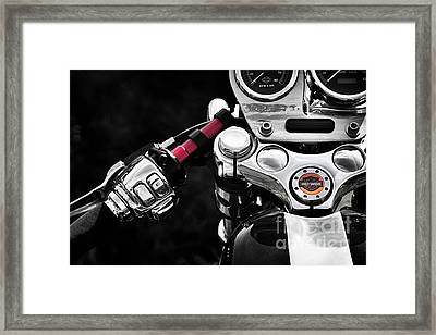 Harley Cafe Racer Framed Print