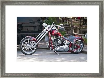 Harley Chopped Framed Print