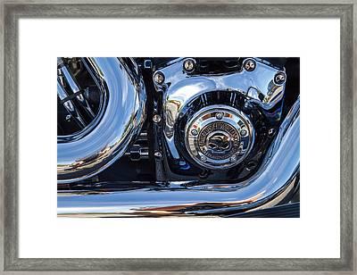Harley Chrome Framed Print