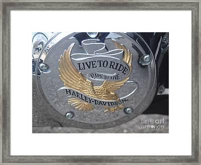 Harley Davidson Accessory Framed Print by Yumi Johnson