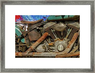 Harley Davidson - An American Icon Framed Print by Bill Gallagher