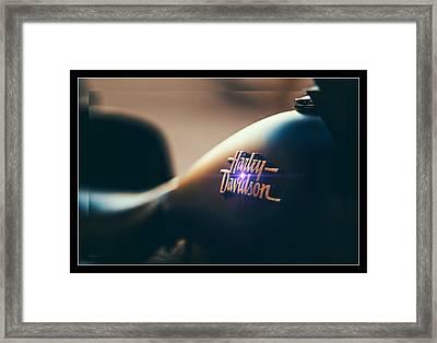 Harley Davidson Cycle Framed Print