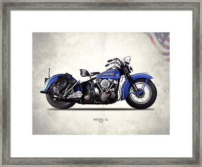 Harley-davidson El 1948 Framed Print by Mark Rogan