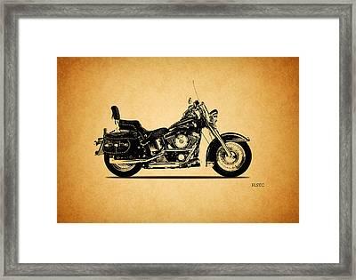 Harley Davidson Flstc 1994 Framed Print by Mark Rogan
