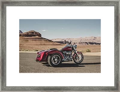 Harley-davidson Freewheeler Framed Print