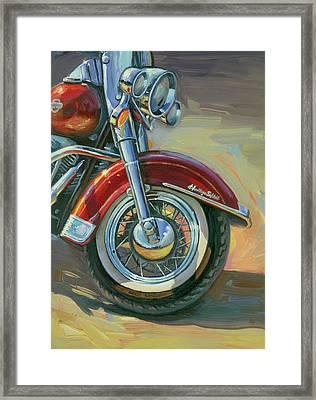 Harley-davidson Heritage Softail Framed Print