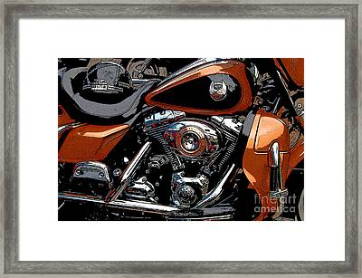 Leather And Chrome Framed Print by Diane E Berry
