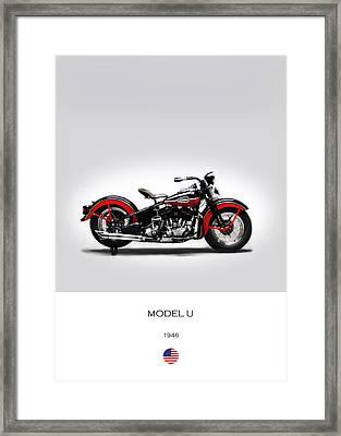 Harley Davidson Model U Framed Print by Mark Rogan