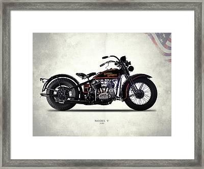 Harley-davidson Model V 1930 Framed Print
