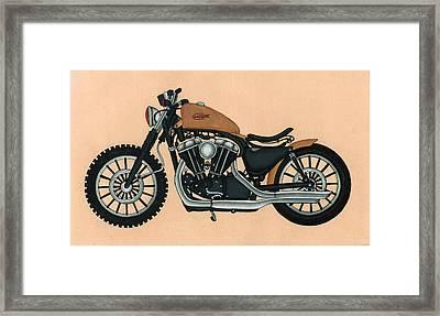 Harley - Davidson Old Bykes,antique Vintage Framed Print by A K Mundra