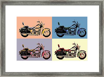 Harley Davidson Pop Art Poster Framed Print by Dan Sproul