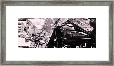 Harley Davidson Road King  Motorcycle Framed Print by Lisa  DiFruscio