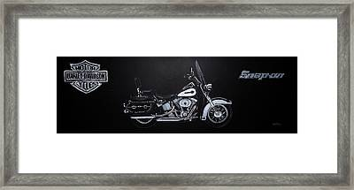 Harley Davidson Snap-on Framed Print