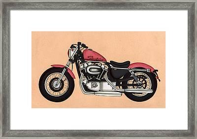 Harley - Davidson Sportster 883,antique Vintage  Framed Print by A K Mundra