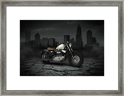 Harley Davidson Sportster Forty Eight 2013 City Framed Print by Aged Pixel
