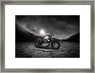 Harley Davidson Sportster Forty Eight 2013 Mountains Framed Print by Aged Pixel