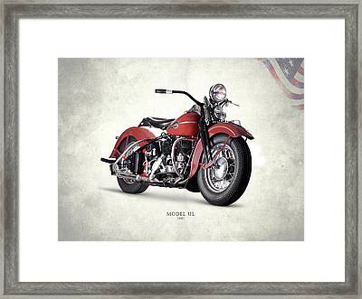 Harley-davidson Ul 1941 Framed Print by Mark Rogan