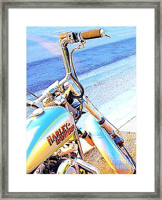 Harley-davidson Framed Print by Wingsdomain Art and Photography