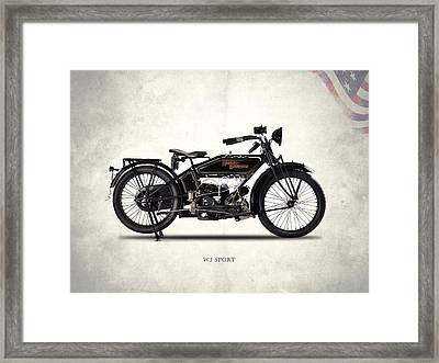 Harley-davidson Wj 1921 Framed Print by Mark Rogan