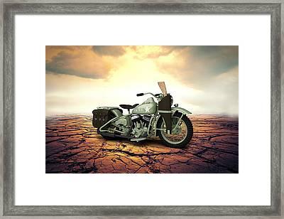 Harley Davidson Wla 1942 Desert Framed Print by Aged Pixel