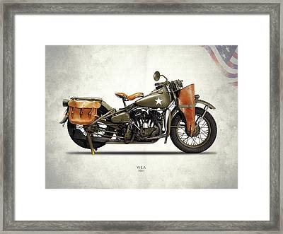 Harley-davidson Wla 1942 Framed Print by Mark Rogan