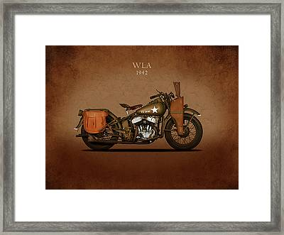 Harley Davidson Wla Framed Print by Mark Rogan