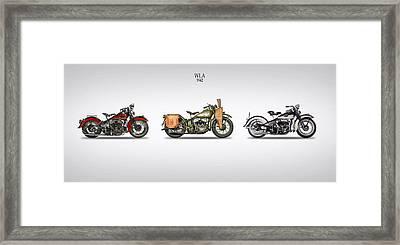 Harley Davidson Wla Range 1942 Framed Print by Mark Rogan