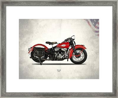 Harley-davidson Wld 1941 Framed Print