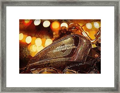Harley Davidson Xl1200v Seventy Two Framed Print by Yurdaer Bes