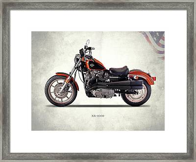 Harley Davidson Xr-1000 Framed Print by Mark Rogan