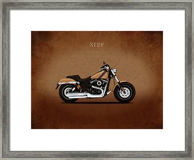 Harley Fat Bob Framed Print by Mark Rogan