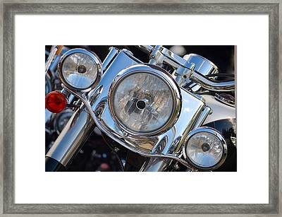 Harley Full Frontal Framed Print by Anthony Robinson
