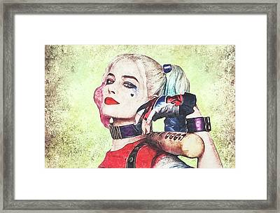 Harley Is A Crazy Woman Framed Print