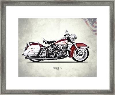 Harley Model Fl 1960 Framed Print by Mark Rogan